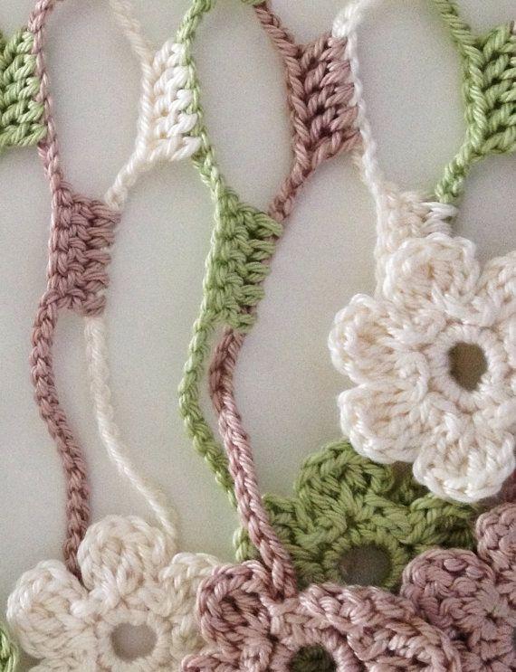 Nature flowery crochet echarpe | Crochet | Pinterest | Ganchillo ...
