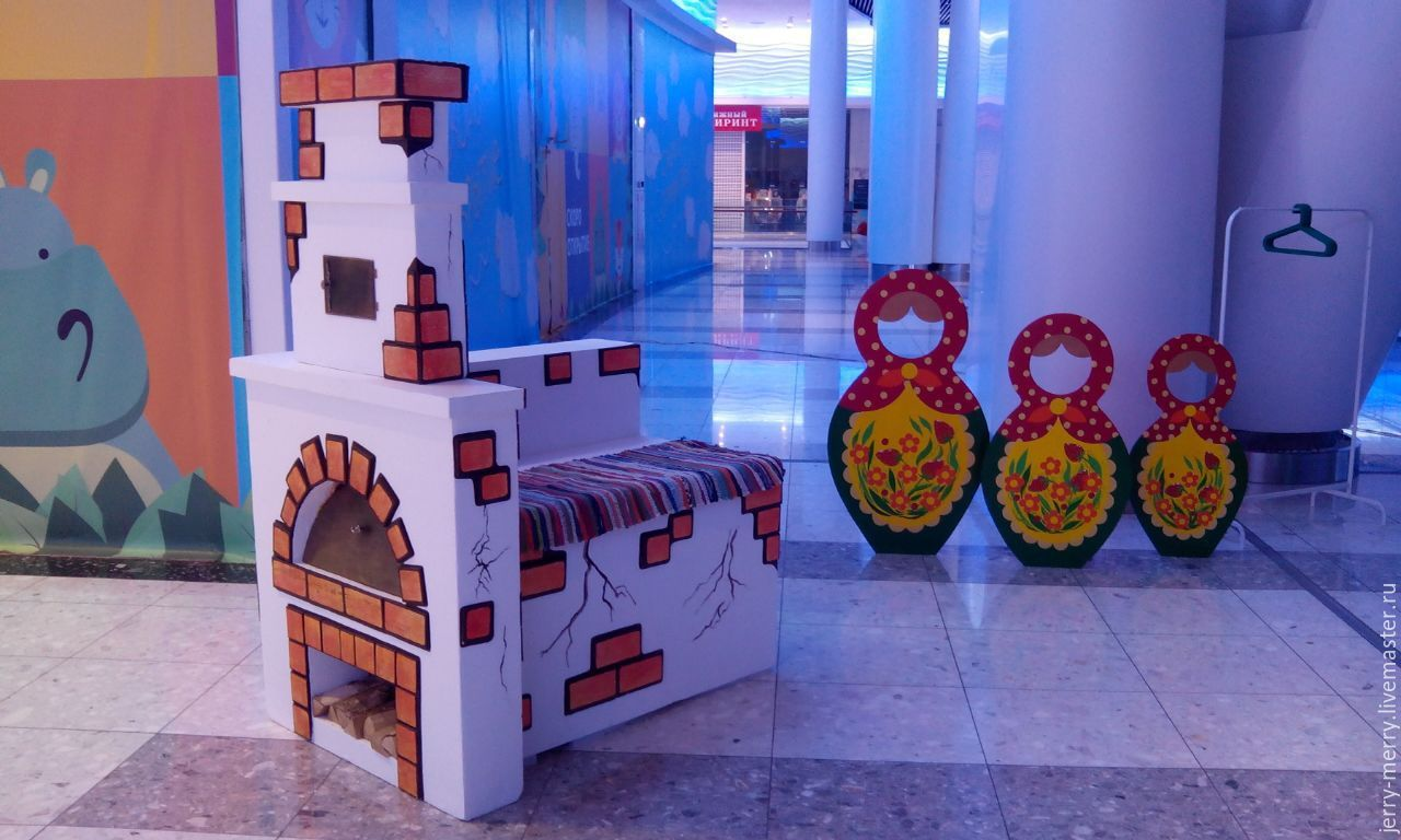 Печка для декораций своими руками фото 360