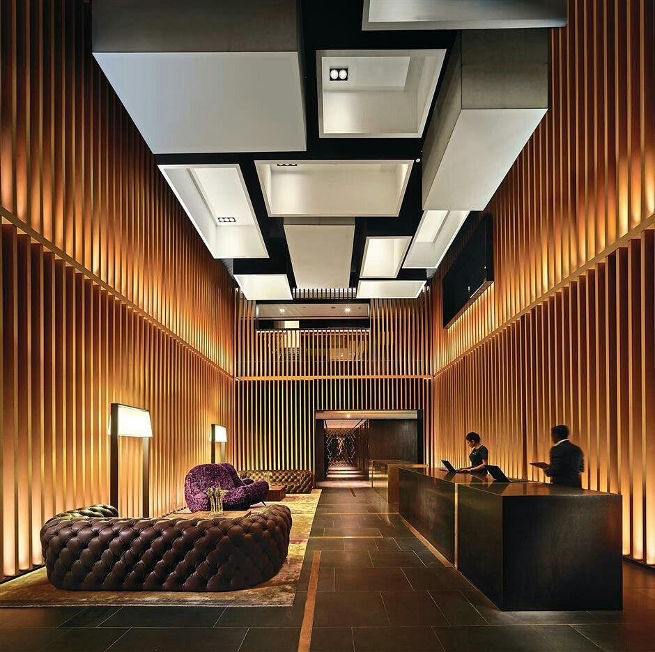 Lobby Lighting ホテルのロビーのデザイン イ