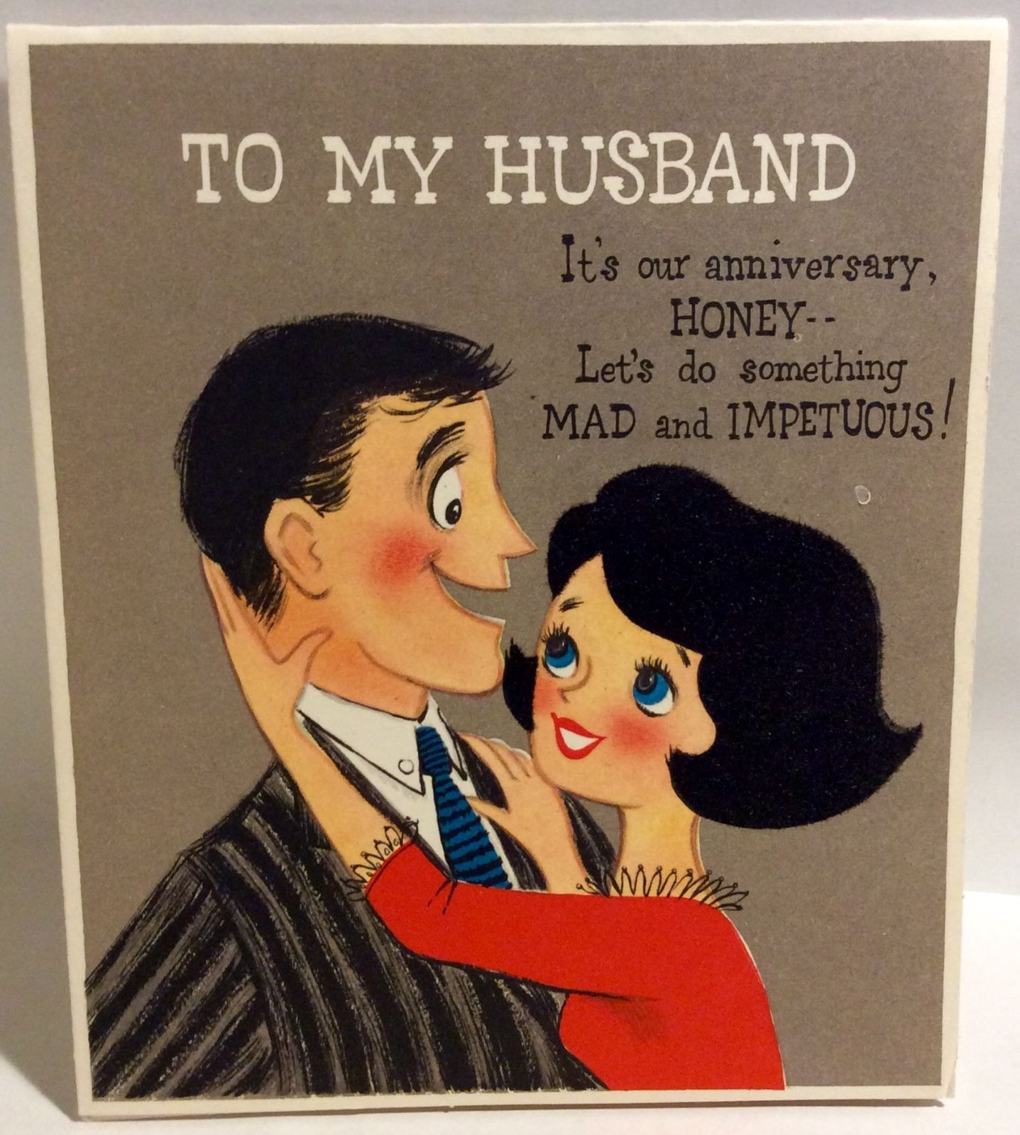Handmade Personalised Care Bear Anniversary Wedding Engagement Card Husband Wife