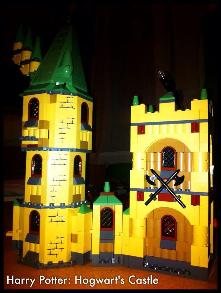 Hogwarts castle from Harry Potter.