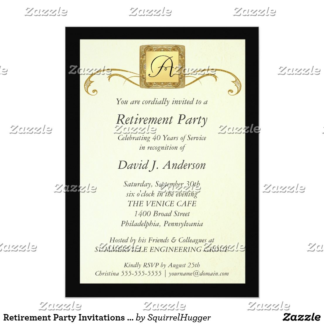 Retirement Party Invitations - Formal Photo Invite | Retirement parties