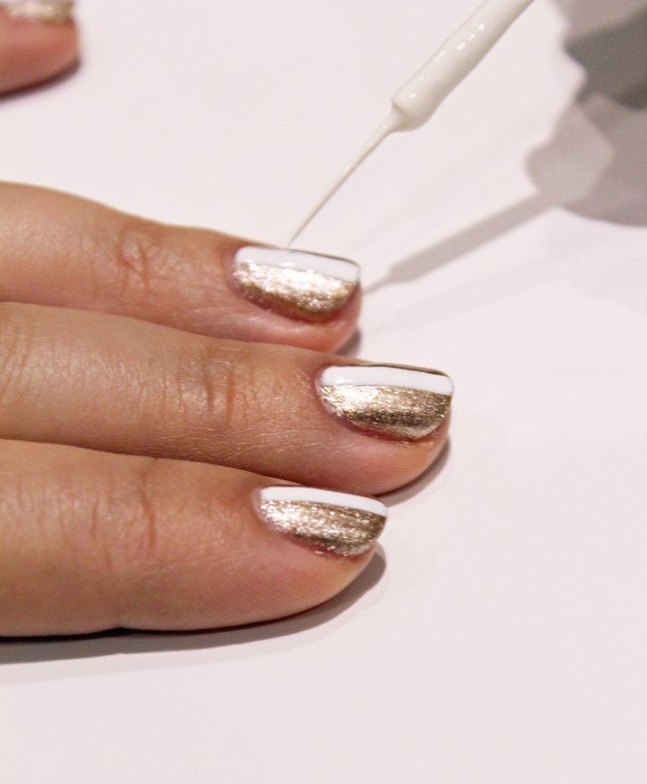 Pin for Later: Diamond Nail Art That's Classy Enough to Wear on Your Wedding Day Step 1