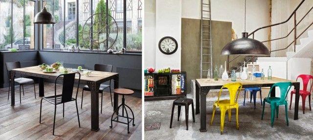 30 idées pour une salle à manger style industriel | Blog deco ...