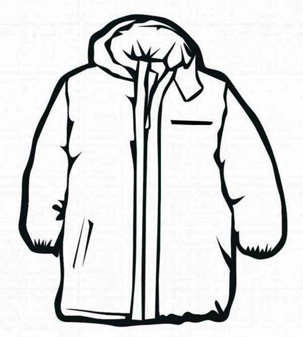 Jacket Coloring Page