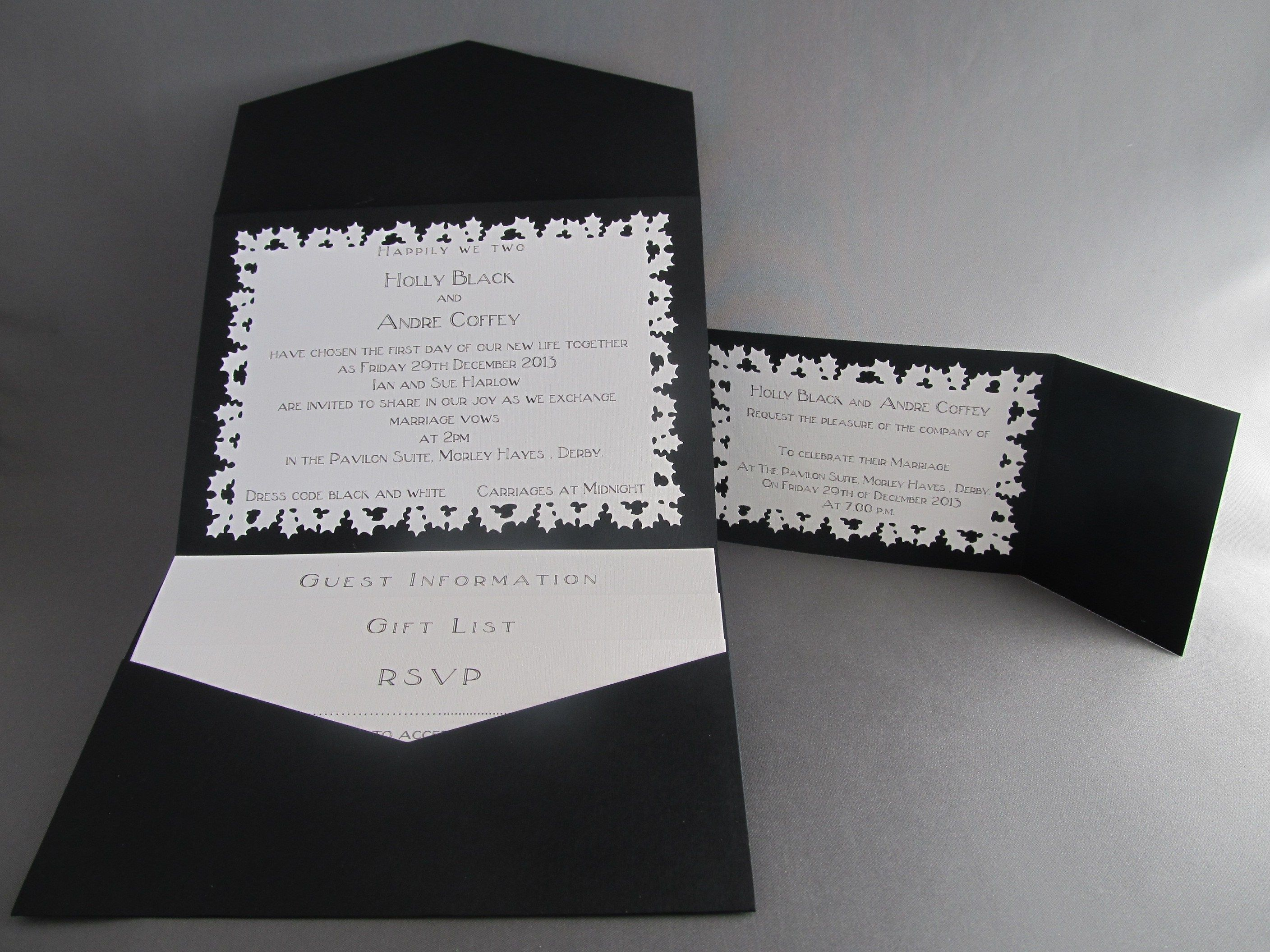 black and white wedding cards pinterest%0A Black    IMG         Christmas WeddingWhite WeddingsWedding InvitationsBlack