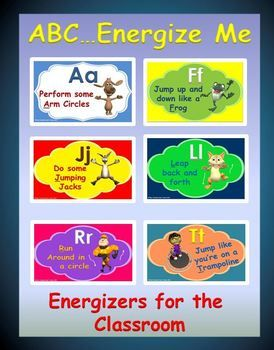 The Following Activity Abc Energize Me Is A High Energy Fun And Organized Classroom Activity That Gives You Preschool Letters Classroom Fun Preschool Fun