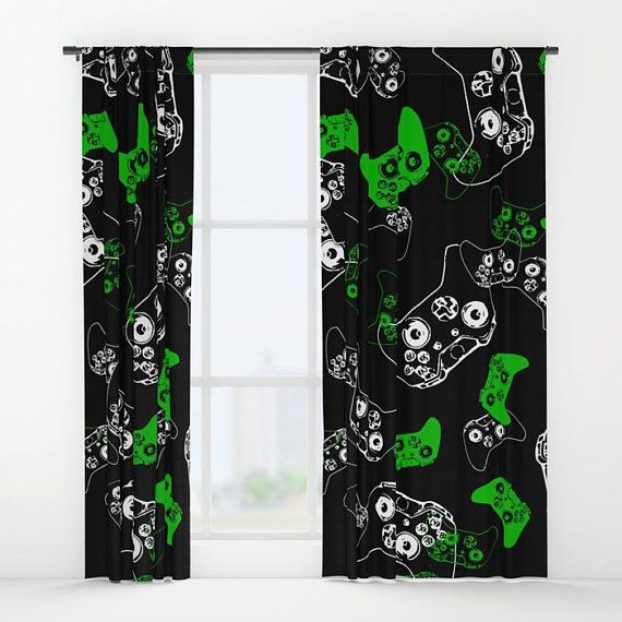 Wedding Gifts For Nerds: Gamer Curtains, Gamer Gifts, Video Game Decor, Gamer Room