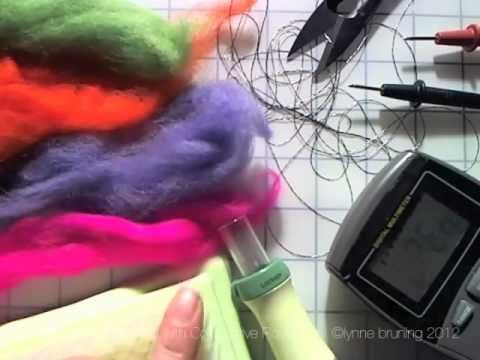 Needle Felting with Conductive Roving