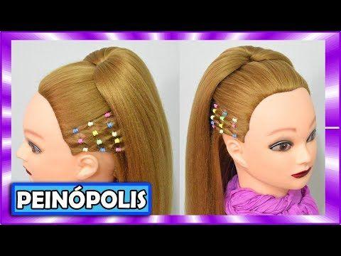 Peinados con ligas para Niña Faciles y Rapidos - Semirecogidos con - peinados de nia faciles de hacer