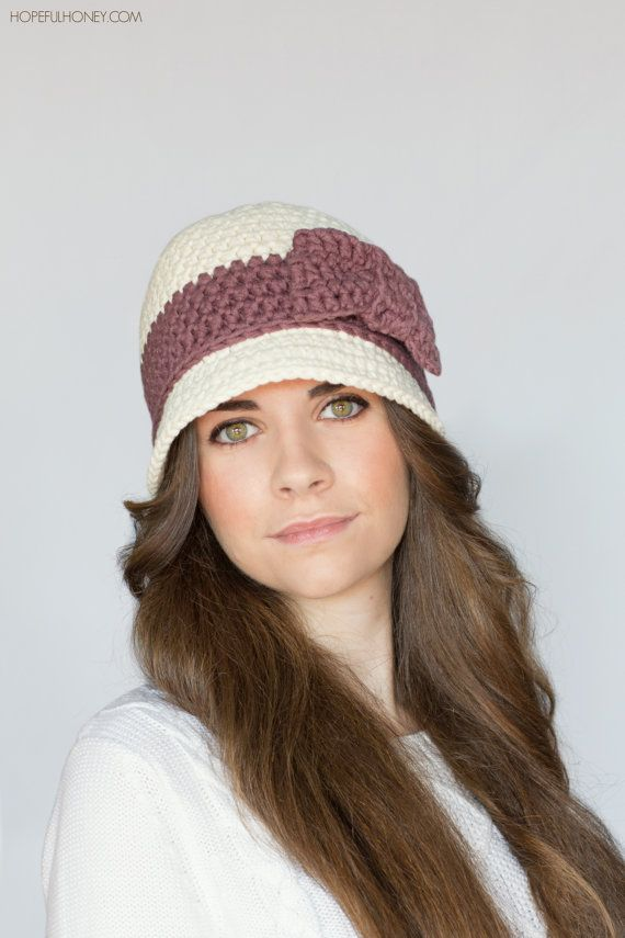 CROCHET PATTERN - Downton Abbey Inspired Cloche Hat, 1920\'s Flapper ...