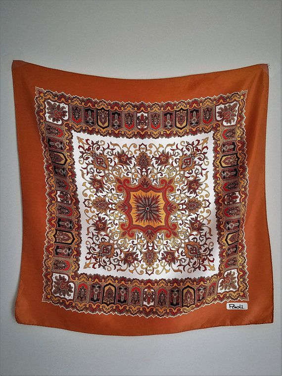 Vintage Bohemian Festival Wall Tapestry or Head Scarf Hippie