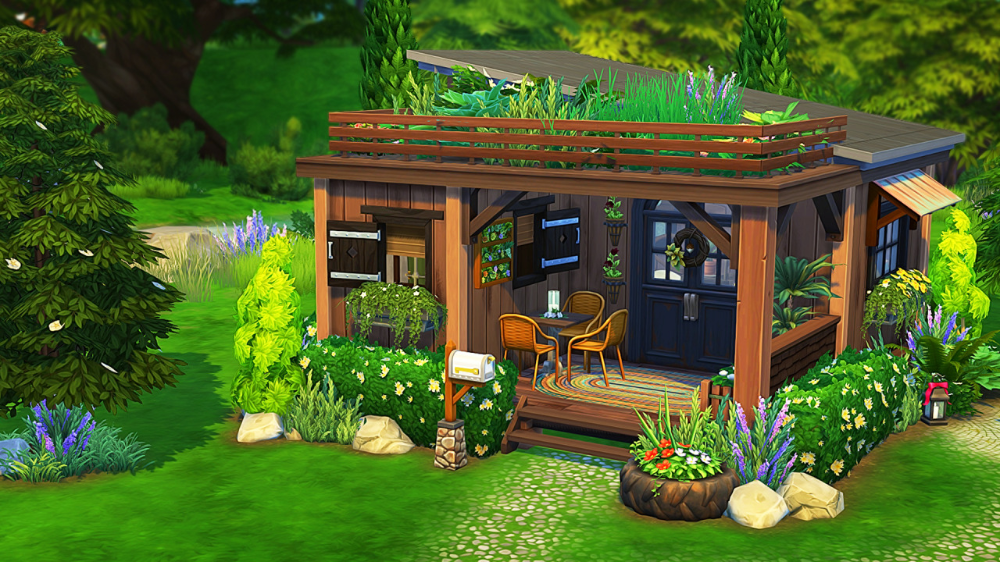 Aveline TINY OFF THE GRID HOUSE 🌲 1 bedroom 2 sims 1