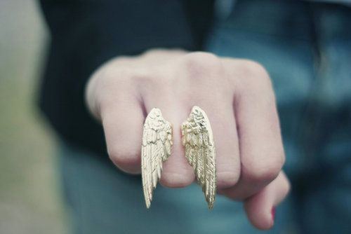 Ring with wings