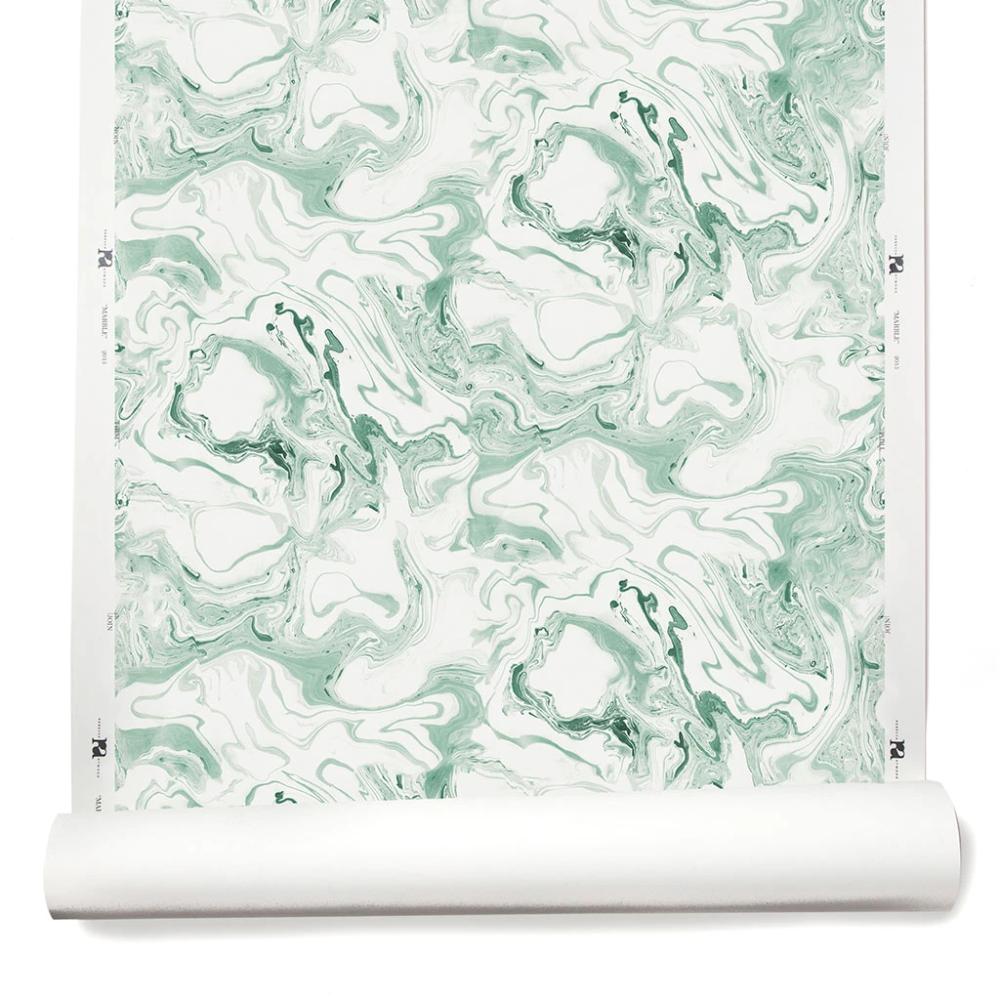 Marble Wallpaper in Soft Jade