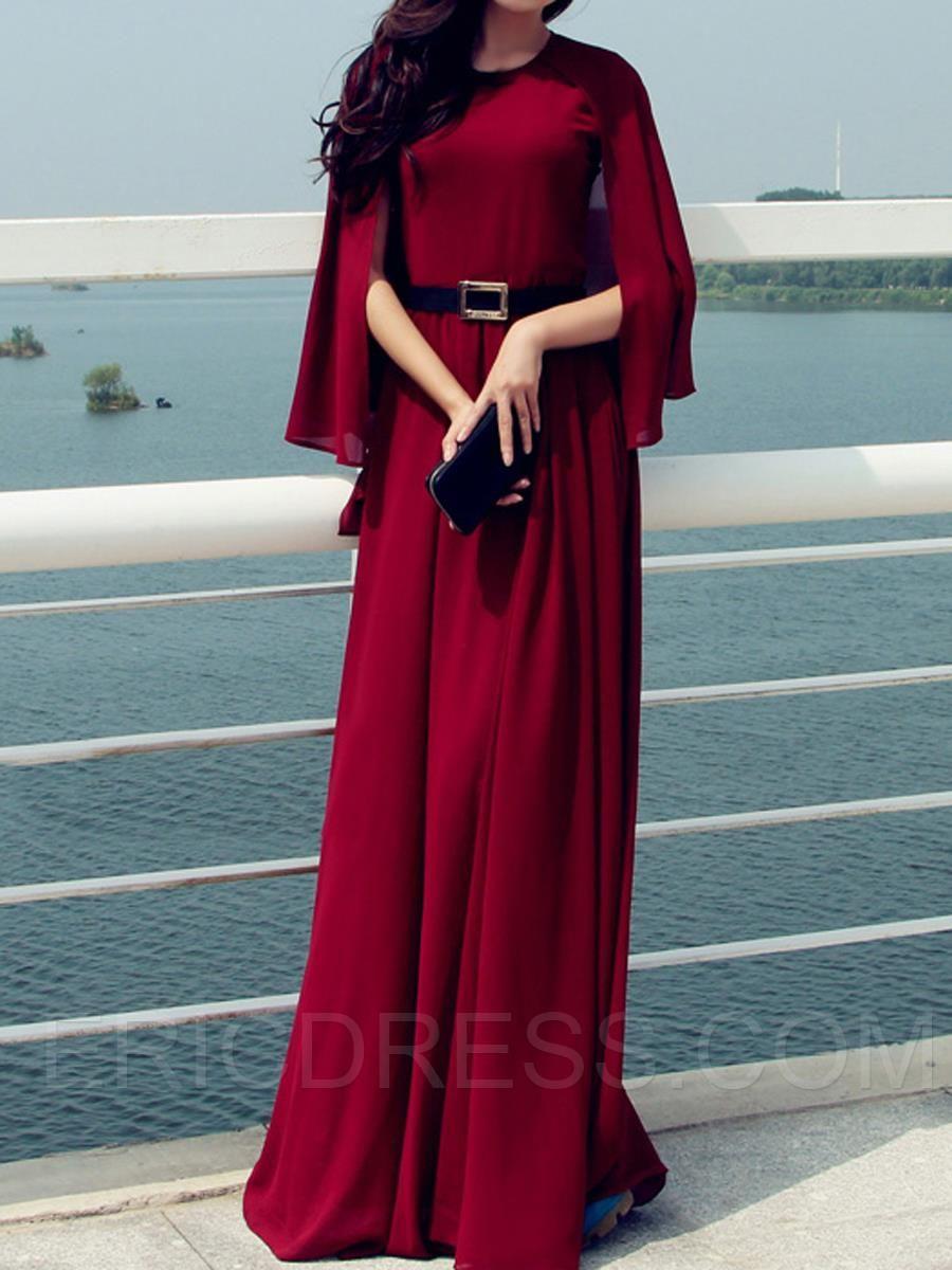 d3cefc0fdd Ericdress Temperament High-waist Maxi Dress Maximum Style | Lovely ...