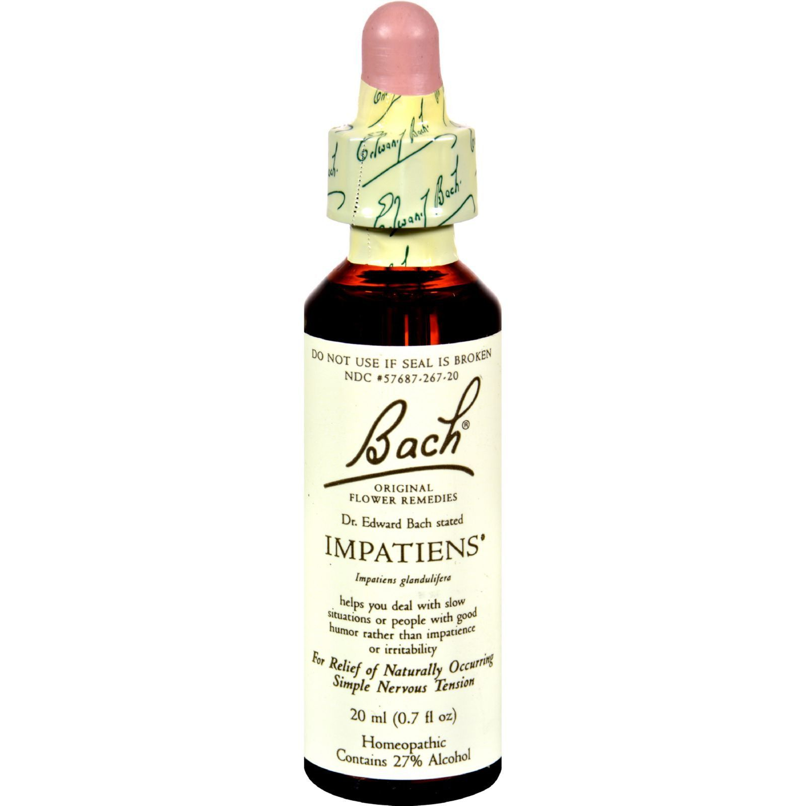 Bach Flower Remedies Essence Impatiens 0 7 Fl Oz Products