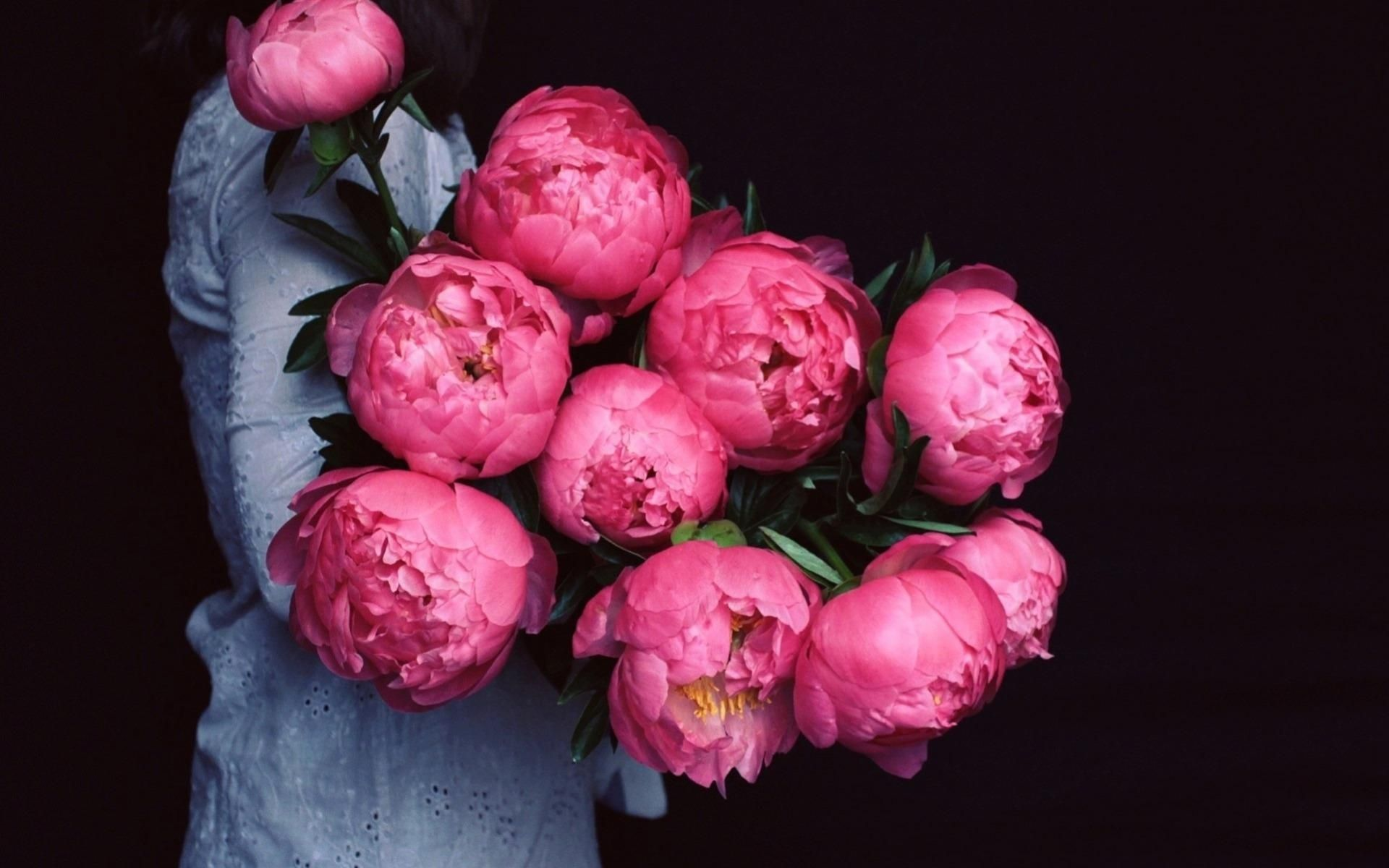 giant peonies flowers in my hair Pinterest Teal