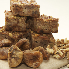 Addiction Food's Fig, apple & walnut slice. Wheat, dairy, egg & gluten free, 100% vegan