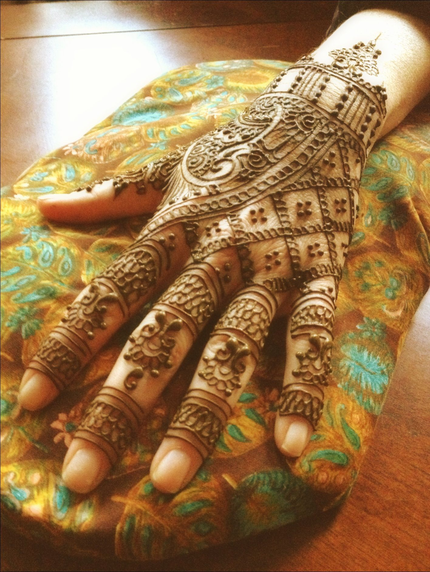 Traditional Indian Henna Designs: Traditional Indian Henna By Nev Of Remarkable Blackbird