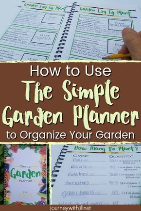 How to Start Organizing Your Garden with the Simple Garden Planner - The Beginner's Garden