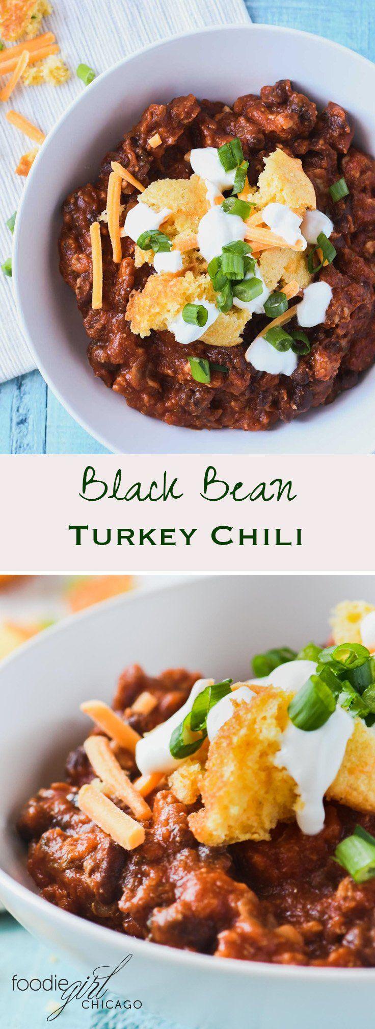 Black Bean Turkey Chili With Amber Ale Recipe Chili Recipes Recipes Turkey Chili