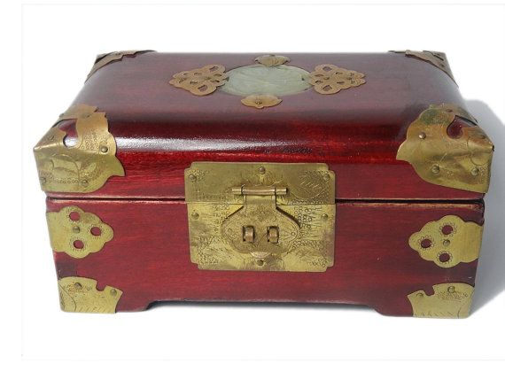 Vintage Chineseoriental Jewelry Boxtrinket boxasian jewelry box