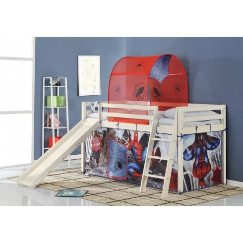 Spiderman Cabin Bed with Slide and Tent - Our fun Disney Cars cabin bed with slide  sc 1 st  Pinterest & Spiderman Cabin Bed with Slide and Tent - Our fun Disney Cars ...