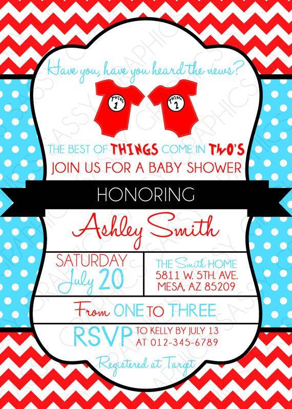 twins baby shower invitation dr seuss inspired thing 1 thing 2 invitation baby shower invitation twins chevron polka dot red blue pdf 12