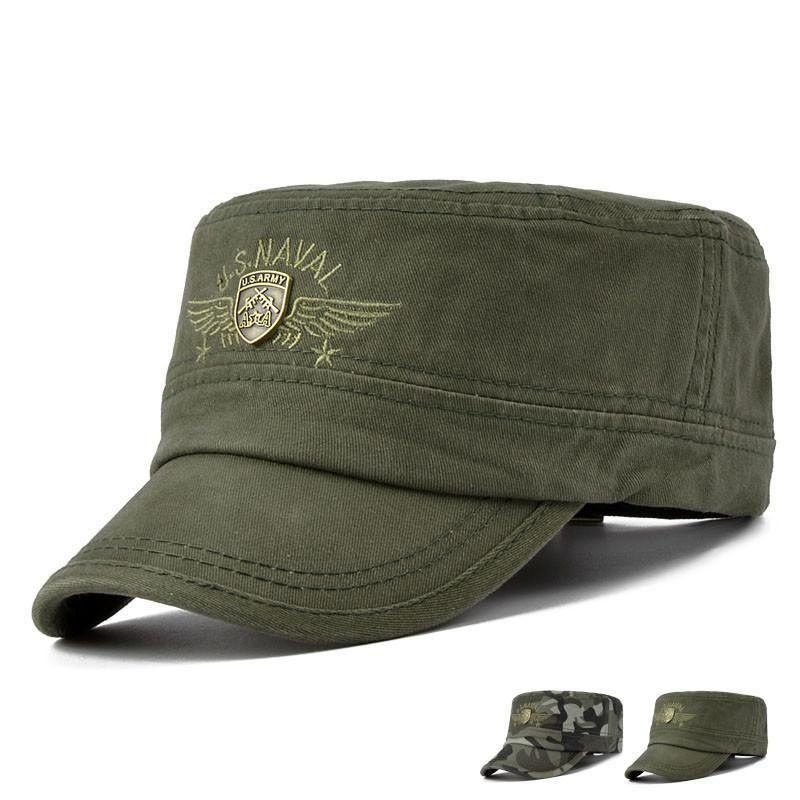 Gorra visera cuadrada - negro militar  5205c6856ce