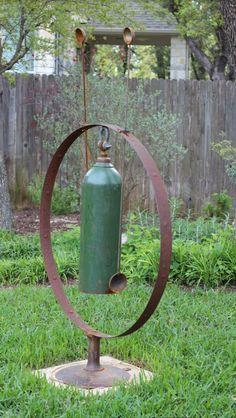image result for large gas tank chimes with metal stand metal art pinterest metall kunst. Black Bedroom Furniture Sets. Home Design Ideas