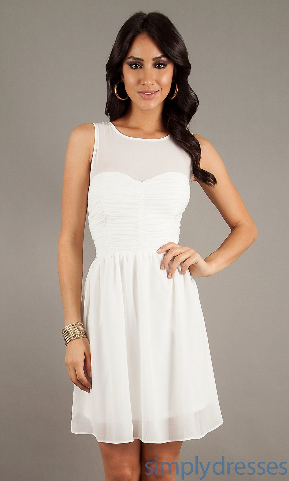 Short Casual Dress, Short White Graduation Dress - Simply Dresses ...