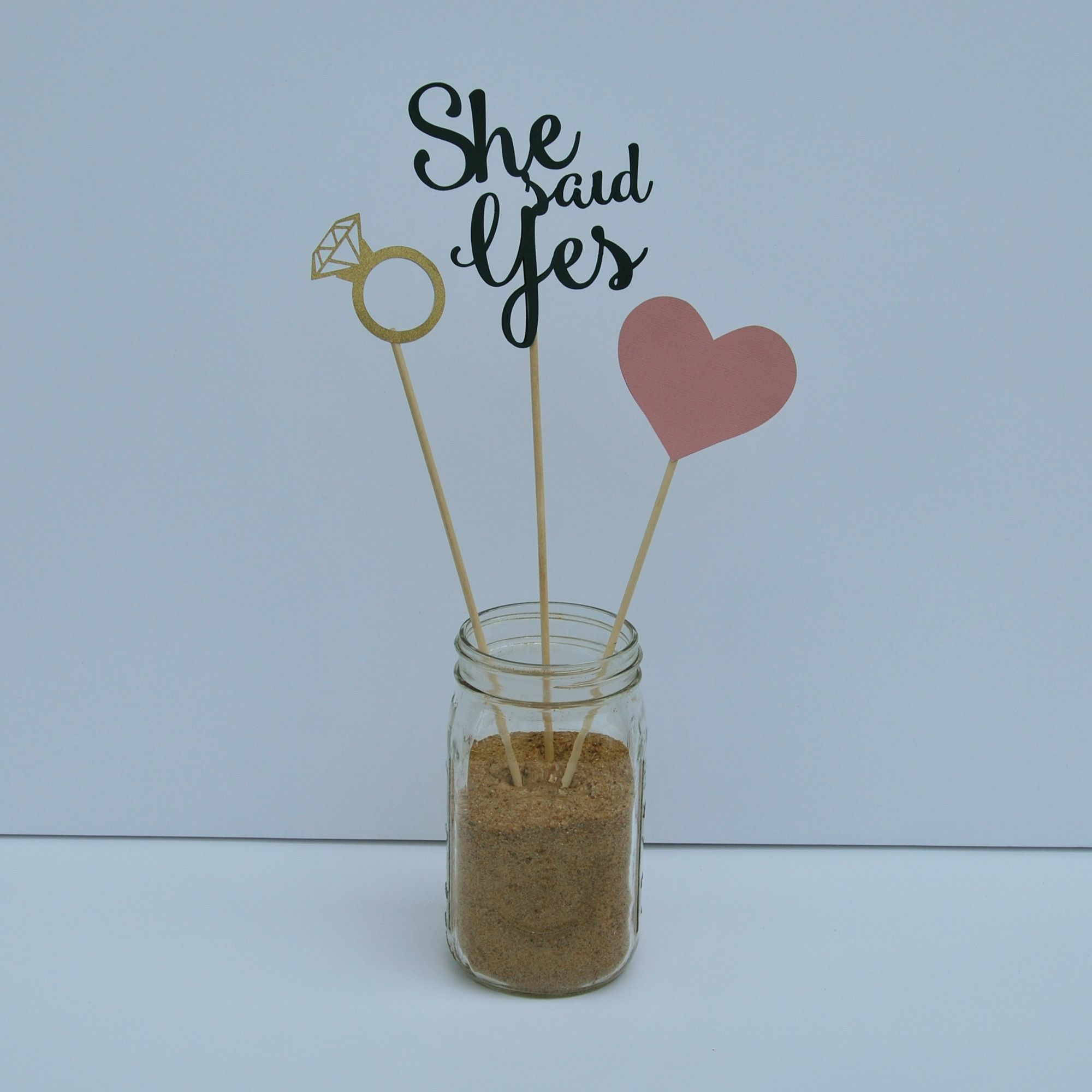 """""""She Said Yes"""" Engagement Party Centerpiece For Pinterest"""