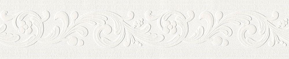 AS Création Bordüre Only Borders 9 weiß 5,00 m x 0,13 m 639615 - tapeten bordüren wohnzimmer