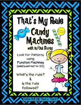 Each activity has 10 cards with different function machines, otherwise known as Candy Machines in these activities. The cards target addition…