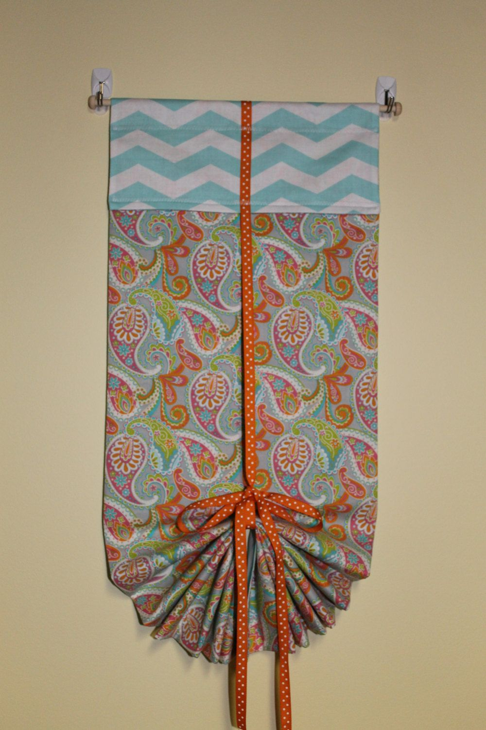 Classroom door window - Classroom Door Safety Curtain Paisley Turquoise Chevron By Wittywhimsicals On Etsy
