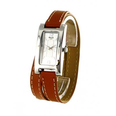 beaucoup de choix de nombreux dans la variété détaillant Montre double tour en cuir camel signée MCK Paris pour ...