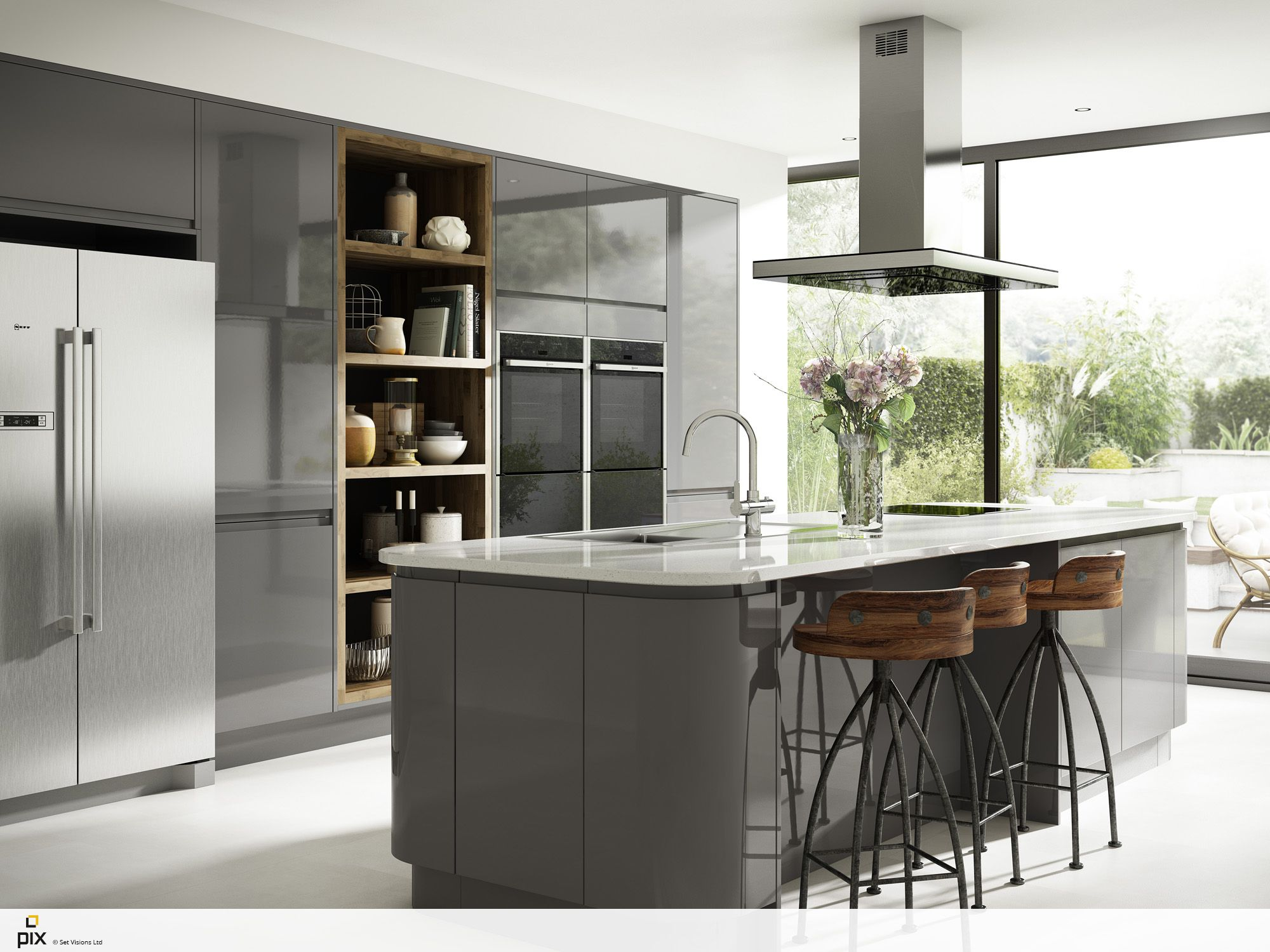 Pin By Dalia El Sayed On Small Kitchens In 2018 Pinterest Austin Flats Rene Black Hitam 37 Sculptural Curved Units With A Lacquered Finish And Ultra Modern Integrated Handles Truly Iconic Design Be The Envy Of Your Friends Holborn