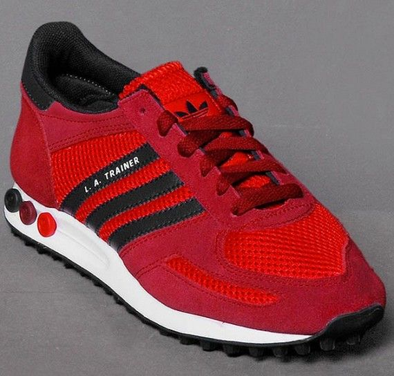 adidas Originals LA Trainer: Red/Black/White