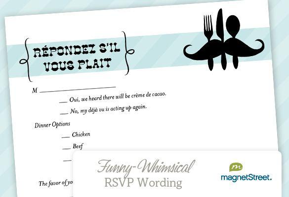 RSVP Wedding Wording   Whimsical wedding, Rsvp and Wedding wording