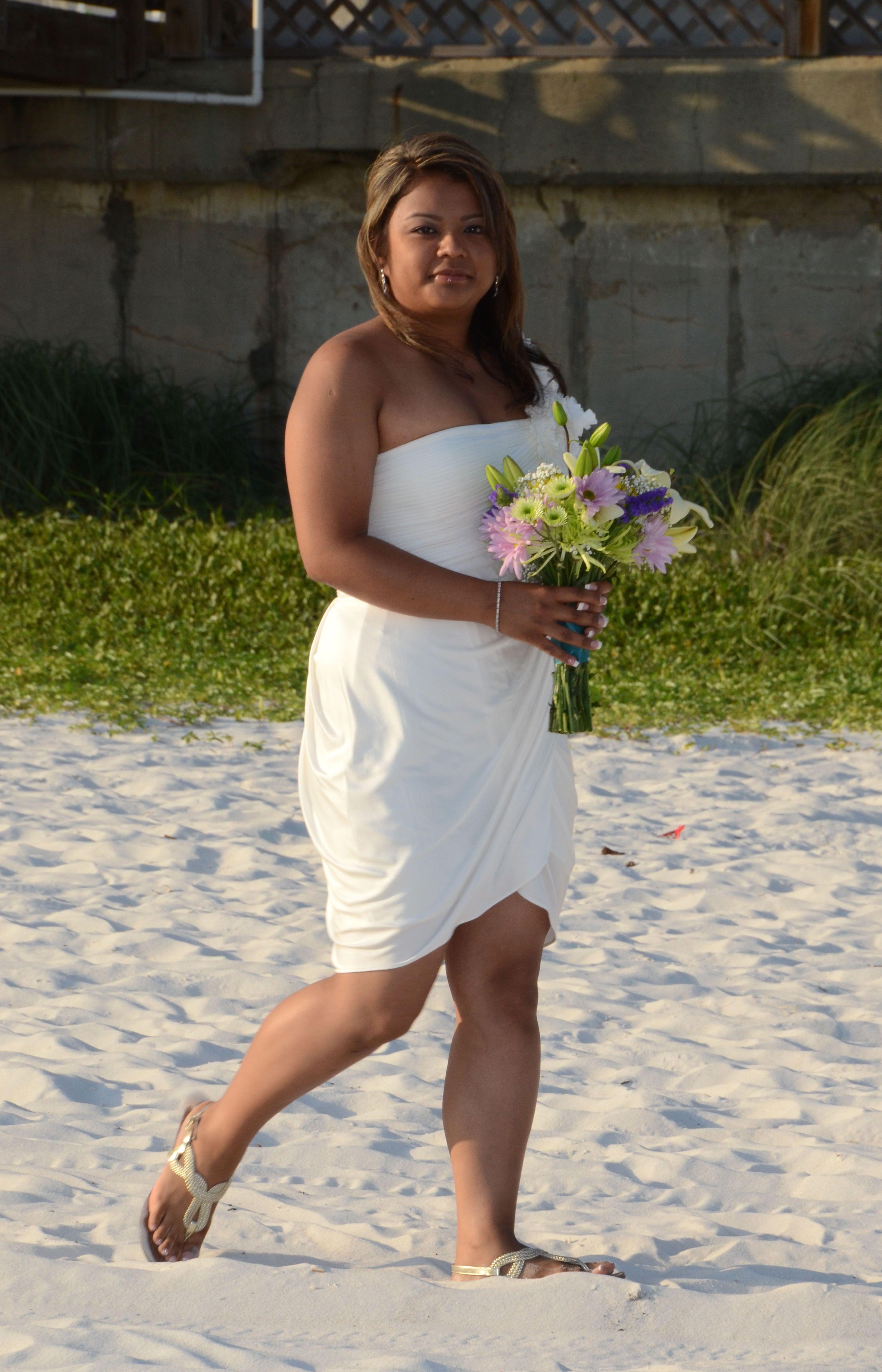 Cute Beach Wedding Dress Panama City Beach Fl July 2011