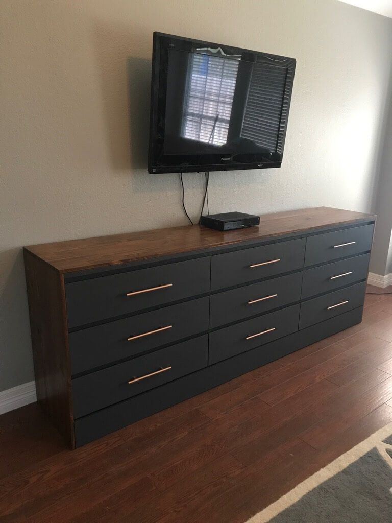 xl chest of drawers one big malm dresser furniture diy