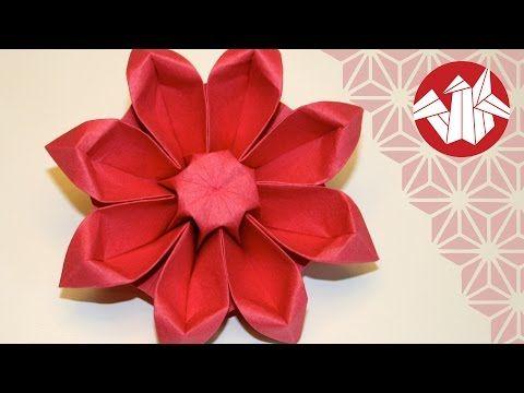 tuto origami fleur gerbera senbazuru youtube. Black Bedroom Furniture Sets. Home Design Ideas
