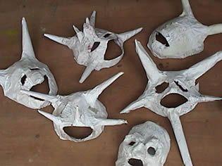 Como hacer una mascara de papel mache bomba y plena - Como hacer una mascara ...