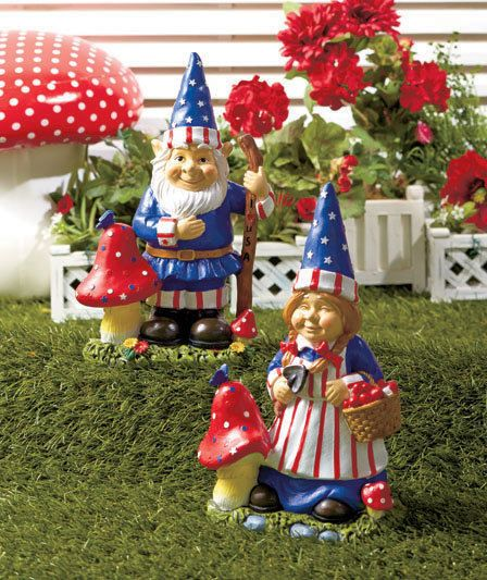 High Quality Patriotic Garden Gnome Statues 4th Of July Garden Yard Decor Mr.or Ms.YOU
