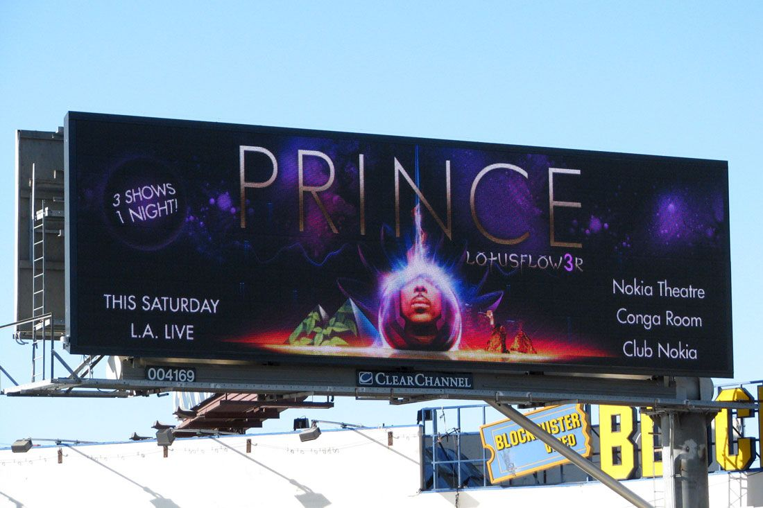 Prince lotus flower concert billboard my name is prince prince lotus flower concert billboard izmirmasajfo Image collections