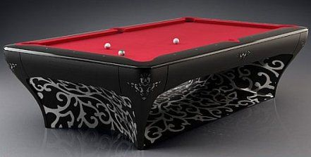 The Luxury Billiard Is Just As Functional As It Is Beautiful It Features An Automated Drawer That Can Hold A Set Of Pool Cues And B Pool Table Billiards Table