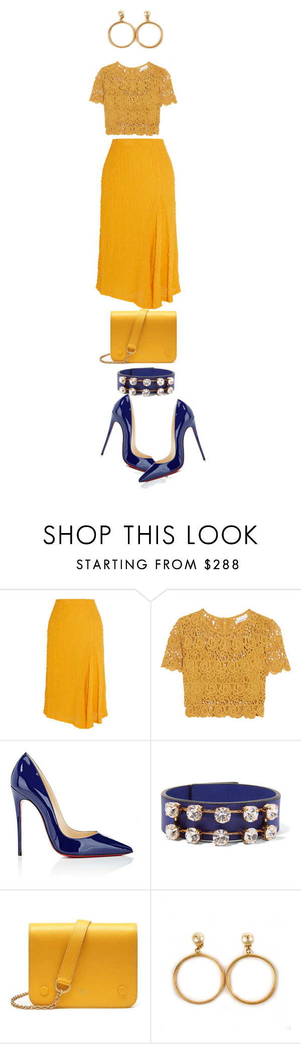 """Victoria"" by diannecollier ❤ liked on Polyvore featuring Victoria Beckham, Miguelina, Christian Louboutin, Marni, Mulberry, Chanel and polyvoreeditorial"