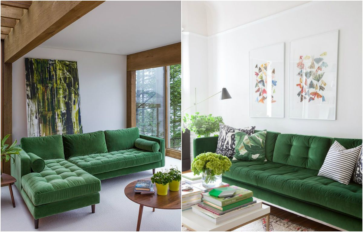 Mood Board Using Emerald Green To Achieve A Trendy Home Decor Www Contemporarylighting