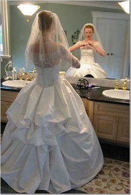 American Bustle Wedding Dress For The Bride Design Enhanced